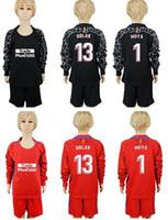 Wholesale f 13 - 2017 2018 kids goalkeeper Jerseys Camisa #13 OBLAK #1 MOYA Goalie shirt long sleeve GRIEZMANN F TORRES KOKE Football Camiseta