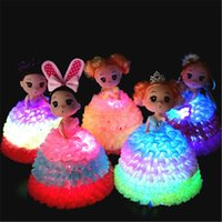 Wholesale beautiful toys for girls online - NEW LED Glowing Mini Beautiful Doll Surprise Luminous Doll For Children Kid Girls Funny Gift Toy H663