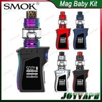 mini tanque de humo al por mayor-SMOK Mag Baby Kit 50W con TFV12 Baby Prince Tank 4.5ml SMOK Mag Baby Mod Gun-Handle SMOK Mag Mini Kit 100% Original