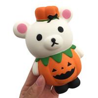 yenilikler taşımak toptan satış-Cadılar bayramı squishy 13 cm Kabak Güzel ayı Squishy Yavaş Yükselen Cadılar Bayramı Sıkmak Dekompresyon Çocuklar Oyuncak karikatür Yenilik oyuncaklar