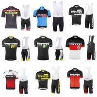 Wholesale green lycra suit - pro cycling jersey set 2018 men scott summer breathable cycling clothing short sleeve bike shirt bib shorts suit ropa ciclismo C3101