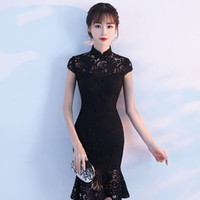 141010393 Sexy Qipao Online Shopping - Sexy Short Slim Cheongsam Dress Fashion Women  Traditional Chinese Wedding Gown