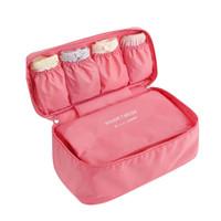 Wholesale underwear container - Bra Underwear Storage Bag Waterproof Nylon Travel Portable Makeup Organizer Handbag Cosmetic Container