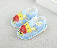Wholesale cute soles - Lovely Animal Sandals Cute Fashion Cheap Soft Sole comfortable Light Blue Flat Footwear shoes