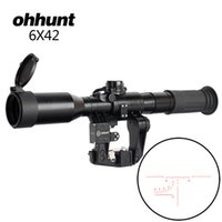 posa gafas al por mayor-Tactical 6X42D Sight Red Illuminated SVD AK Rifle Scope POS-1 Glass Etched Reticle Hunting Sniper RifleScopes