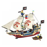 просветить строительные кирпичи оптовых-Просветите Корабль Строительные Блоки Sea Rover DIY Fingure Кирпичи развивающие Игрушки Подарки 311