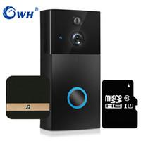 pir card großhandel-CWH 720P Türsprechanlage Wireless Video-türsprechanlage Glocke WiFi Türklingel Kamera PIR SD Karte Aufnahme Batteriebetriebene AC24V