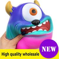 Wholesale big one toy for sale - Group buy Squishy huge one eyed monster quality Jumbo Slow Rising Soft Oversize Phone Squeeze toys Pendant Anti Stress Kid Cartoon Decompression Toy