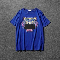 Wholesale summer cotton shirts for women - 2018 Summer Designer T Shirts For Men Tops Tiger Head Letter Print T Shirt Mens Clothing Brand Short Sleeve Tshirt Women Tops White S-2XL