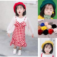 bérets en laine enfants achat en gros de-Mode Enfants Enfants Unisexe Imitation Laine Chaud Béret Bonnet Chapeau Chapeau Automne Hiver Casquettes Enfant Cadeau
