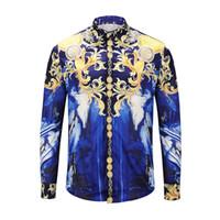 385b4d786c04 Nouveau 2019 mode casual shirt tendance hommes 3D 3D impression numérique  classique à manches longues Medusa shirt LM-2XL