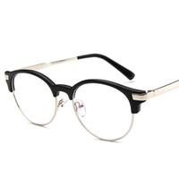 новые оправы с титановой рамой оптовых-New  Titanium Rimless Eyeglasses Frames Ultra Light Myopia Round Vintage Glasses Optical Frame for Male and Women
