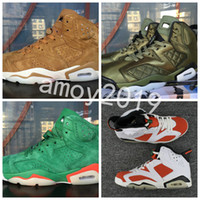 Wholesale genuine suede jacket - 2018 Gatorade Superfly 6 Green Red Suede Flight Jacket Men Women Basketball Shoes 6s Mens Trainers Sneakers Zapatos Size 36-47 WithBox