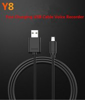 Wholesale Mobile Digital Recorder - Mini USB Charging Cable Voice Recorder Digital Sound Audio Voice Recording Dictaphone USB Data Line Recorder for iPhone and Android Mobile