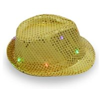 New 2017 Women Men Adult LED Lighting Flash Fedora Hat Cap Wedding Party  Show Dance Bling Sequins Jazz Hats 79a1ea1932ec