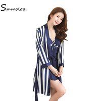a9d172f3f1 34% Off. CAD  51.18. Smmoloa Women Sexy Silk Stain Robe Nightgown Set Lace Sleepwear  Pajamas ...