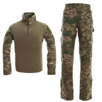 Wholesale army camo uniforms for sale - Military Camo Frogman Tactical Suit Marines Camouflage Tactical Frog Clothing Uniforms Men Women With Protective gear CB9F1