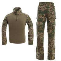 taktische camo uniformen großhandel-Military Camo Frogman Taktische Anzug Marines Camouflage Tactical Frog Kleidung Uniformen Männer Frauen Mit Schutzausrüstung CB9F1