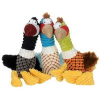 Wholesale cartoon birds plush online - Pet Dogs Puppy Squeaky Plush Chewing Toys Bird Design Plush Toys Soft Plush Chewing Training Toys Pet Supplies CCA10242