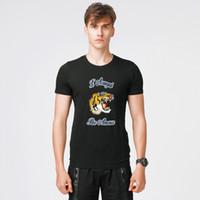 Wholesale Large Tee Shirt Men - 2018 Hot Sale T-shirt Summer Casual Short Sleeve Stretch Designer Shirt Mens Slim Crew Neck Korean Tide Cotton Jersery Tee Large Size M-5XL