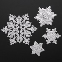 Wholesale Dies For Scrapbooking - 4pcs Christmas Snowflake Metal Cutting Dies Stencils for Scrapbooking Album Paper Card Diary Hand Craft Template Decorative
