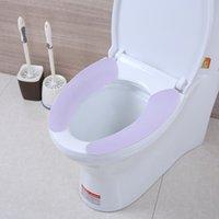 ingrosso adesivi da bagno-Morbido Caldo Rotondo Telo coprisedile allungato Cuscino rimovibile Cuscino Adesivi per tappetino Impermeabile antiscivolo Accessorio per il bagno