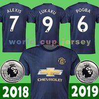 Wholesale 31 shirt - Top Thai 18 19 New United soccer jersey 6 POGBA 22 MKHITARYAN 7 ALEXIS 8 Mata 9 Lukaku 10 IBRAHIMOVIC 11 MARTIAL 31 MATIC 2018 2019 shirts