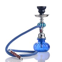 Wholesale blue green hose resale online - Blue green quot Hose unique new design Complete Set unique design Pumpkin Hookah Glass Vase