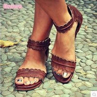 Wholesale womens toe covers - Gladiator Womens Summer Sandals Shoes Ankle Strap Sandals Shoes Back Zipper Zip-up Fashion Flat Footwear Female Fashion Open Toe Sandals