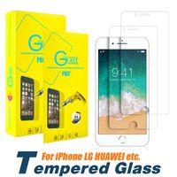 gehärtetem glasschirm iphone 5s großhandel-Für iphone xs max xr x 7 8 6 plus 5 s 2.5d gehärtetes glas displayschutzfolie für samsung galaxy s6