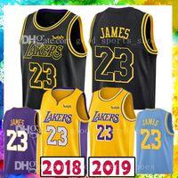 Wholesale m s fashion - 18 19 nEW 23 LeBron James Basketball Jerseys 2018-2019 Men's Los Angeles 77 Luka Doncic 22 DeAndre Ayton 2018 New Fashion Mens polo shirt