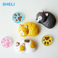 etiquetas do japão para miúdos venda por atacado-Japão cat imãs de geladeira zakka animal whiteboard etiqueta imãs de geladeira crianças presentes de brinquedo decoração de casa frete grátis