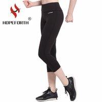 black female yoga pants al por mayor-Pantalones de yoga de color negro de las mujeres spandex estirar corriendo medias gimnasio femenino gimnasio deporte polainas yoga desgaste para damas