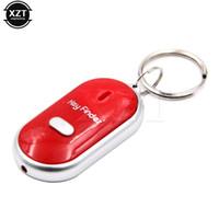 sensor schlüsselbund großhandel-Anti-verlorene Audio-Sensor-Blitz elektronische Alarm LED Key Finder finden Locator Keychain Whistle Beep Sound Control Taschenlampe Neueste