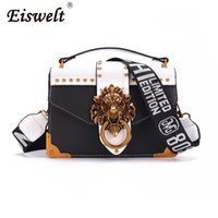 Wholesale red white handbags clutch resale online - EISWELT Metal Mini Small Square Pack Shoulder Bag Crossbody Package Clutch Women Designer Wallet Handbags Bolsos Mujer
