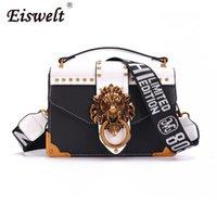небольшие упаковочные мешки оптовых-EISWELT Металл Mini маленького квадрат пакет сумка плечо Crossbody пакет сцепление женщины конструктора бумажник сумка Bolsos Mujer