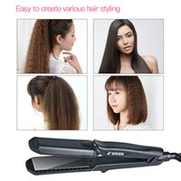 Wholesale hair straightener waves - wave crimper Interchangeable 4 in 1 Straightener Corn curling Wide Wave Plate Electric Hair Crimper Large Small Corrugated Flat Iron S42