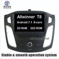 Wholesale rds transmitter - QZ industrial HD 9inch 1024*600 Android 7.1 T8 for Ford Focus 2012-2016 car dvd player with GPS 3G 4G WIFI Bluetooth Stereo Radio RDS Map