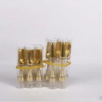 cera de aceite de vidrio al por mayor-Th205 Th210 Vaporizador de cera de vidrio Cartucho sin fieltro de cerámica 510 O Pen Aceite grueso Vape Pen Dispensable eCig Atomizer .5ml 1ml