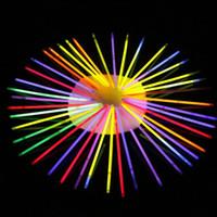 weihnachten beleuchtete halskette großhandel-Weihnachten Led Licht Aufkleber 20 cm Multi Farbe Hot Glow Stick Armband Halsketten Neon Party LED Blinklicht Zauberstab Neuheit Spielzeug LED Gesangskonzert
