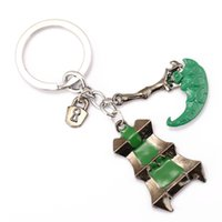 Wholesale Lol Keychains - League of Key Chain LOL Thresh Key Rings For Gift Chaveiro Car Keychain Jewelry Movie Key Holder Souvenir