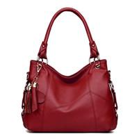 Wholesale Black Dress Bag - Luxury Handbags Genuine Leather Women Bag Hot Shoulder Bag Messenger Vintage Handbag Designer Retro Bags Bolsa Feminina