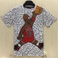 karikatur schießen großhandel-Designer T Shir das Trieb-Karikatur-T-Shirt Hip Hop T-Shirt 3d druckte Spiel-Basketball-lustiges T-Shirt Sommer-Spitzen für Männer
