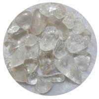 Wholesale aquarium natural - C01 200g 20mm Brazil White Crystal Natural Stone Chips Gravels Block Quartz Aquarium