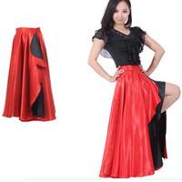Wholesale ladies latin dance skirts - Professional Ballroom Flamenco Latin Dance Skirt For Women Ladies Big Pendulum Salsa Dress Cha-Cha Performance Latin Dance Dress