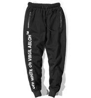 pantalones cargo naranja negro al por mayor-2018 Invierno de los hombres PANTALONES CÁLIDOS Monopatines Pantalones deportivos Hip Hop Pantalones de los hombres de moda de alta calidad