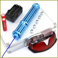 lazer işaretçi piller toptan satış-NBX3-II-M 450nm Piller ile Ayarlanabilir Odak Mavi lazer pointer ChargerGoggles