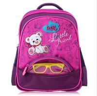 Wholesale Princess Cars - Girls School Bags Orthopedic Princess Schoolbags Children Backpack boys Cartoon Bear Car Primary Bookbag Kids Mochila Infantil
