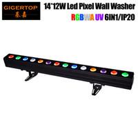 precio de led uv al por mayor-Precio de muestra 14 * 12W RGBWA UV 6IN1 Led Pixel Control individual Bañador de pared Iluminación 100 cm Largo No impermeable 6 Emisión de color