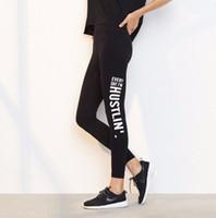 Wholesale workout pants wholesale - Sports Leggings Yoga Pants Letter Printed Style Women Sexy Hip Push Up Pants Fitness Workout Gym Jogging Trousers Sportswear KKA5127